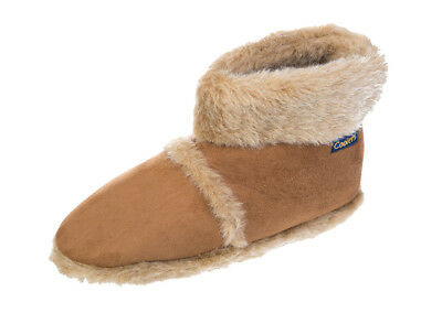 Mens Coolers Comfort Fur Warm Snugg Winter Ankle Slippers Free Post