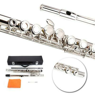 New Silver School Practice 16 Closed Hole Concert Band Student C FLUTE w/Spilt E