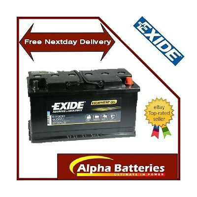 12v Exide 80AH Gel G80 ES900 Leisure Battery