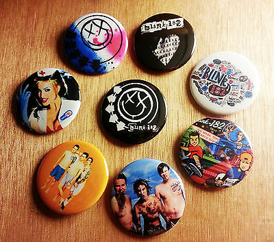 8 piece lot of Blink-182 pins buttons badges