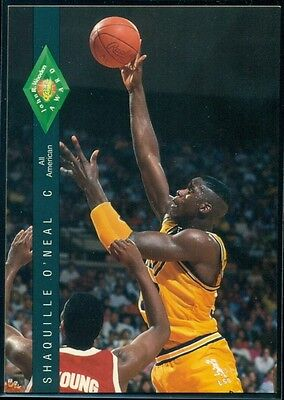 Shaquille O'Neal 1992-93 Classic Four Sport Wooden Award RC #318 LSU g46102