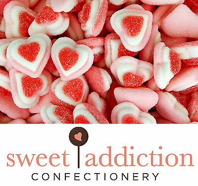 1kg Triple Gummi Hearts pink GLUTEN FREE -Perfect for Candy Buffet or Bomboniere