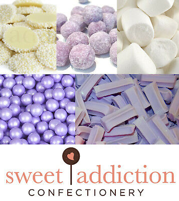 DIY Candy Buffet Purple and White 3.45kg - Bulk Lollies Wedding Sweet Addiction