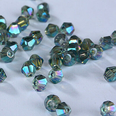 Wholesale!100-1000pcs exquisite 4mm Bicone crystal beads You Pick color