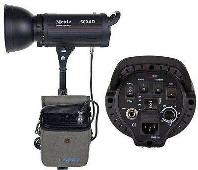 Mettle 600W 600 True WS Dual Power AC/DC 110v Monolight Flash with Battery Pack
