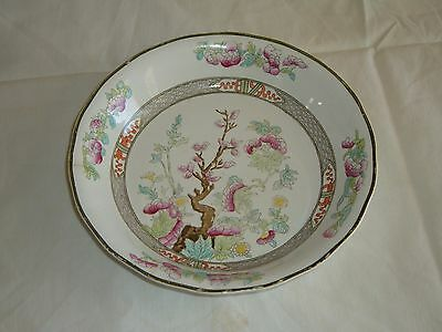 BURGESS & LEIGH ENGLAND POTTERY ANTIQUE INDIAN TREE PATTERN DESSERT BOWL