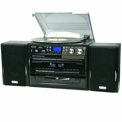 Lenoxx Turntable Player/Recorder/MP3 decoder/Record/cassette/AM/FM radio - Black