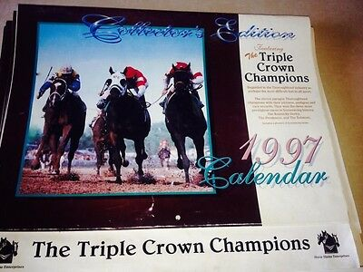1997 The Triple Crown Champions Collectors Edition Calendar