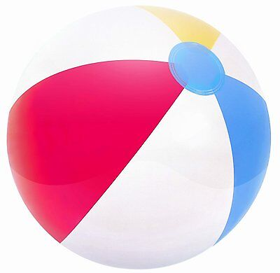 "Inflatable Blow up Panel Beach Ball 24"" 61cm Fun Holiday Party Swimming Garden"