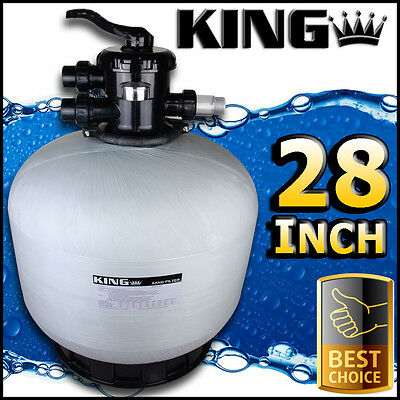 "28"" Swimming Pool Sand Filter - 28 Inch Pool Filter Fiberglass Fibreglass New"