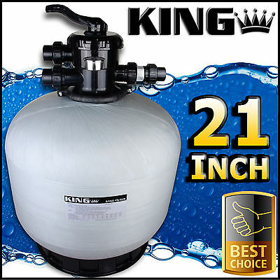 "21"" Swimming Pool Sand Filter - 21 Inch Pool Filter Fiberglass Fibreglass New"