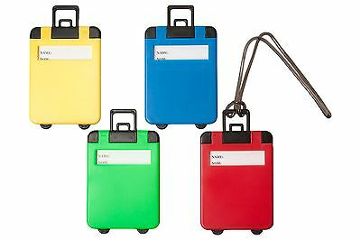 Suitcase Luggage Tags Label Baggage Address Name Identifier Holiday Travel