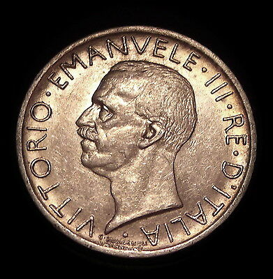 1927 R Italy 5 Lire Silver Coin High Detail & Luster Fascist Italy Coin