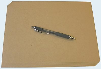 400 Brown Kraft Chipboard Sheets cut 4 X 5 46pt Thickness Scrapbook Chip Board
