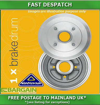 1 X Rear Brake Drum For Vauxhall Movano 2.5 10/2001 - 08/2009 5196