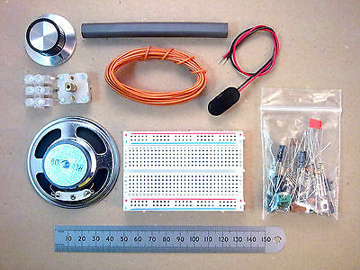 Solderless Breadboard Six Transistor MW AM Radio Kit Of Parts  ff