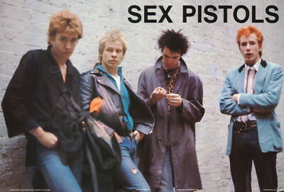 Poster :music :sex Pistols - All 4 Posed -   Free Shipping !  #1185  Rap137 B