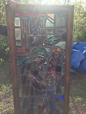 Religious Figural Window Antique