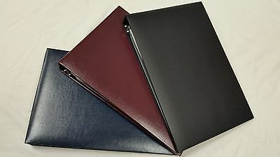 7-Ring 3-on-a-Page Padded Business Check Book Binder Vinyl Pouch 3 Colors *NEW*