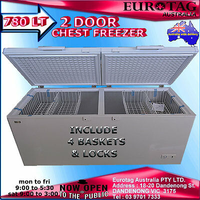 Eurotag 780Lt Commercial Chest Freezer Rrp$2299.00 :Eu-800  Brand New Save