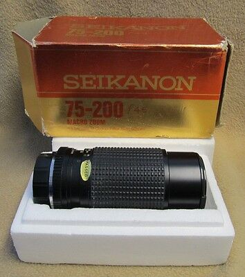 Seikanon 75-200mm f/4.5 Minolta MC Macro Auto Zoom With Original Box - Look