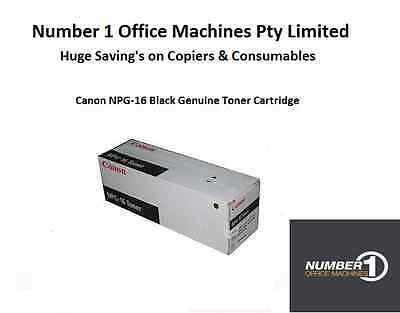 Canon NPG-16 Black Genuine Toner Cartridge - 33,000 pages