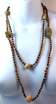 Elegant Vintage Tribal Long Multi Bead Stone Necklace Fast Deliver New (A3)