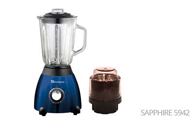 500w  Electric Multi Food Blender With Grinder Smoothie Processor Sapphire Blue