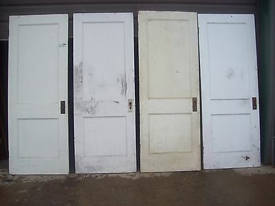 4 available painted 2 panel flat doors    (D q)