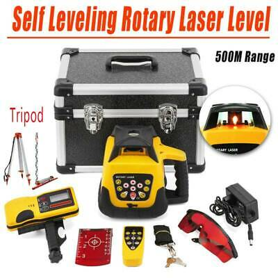 Outdoor Automatic Electronic Self-Leveling Rotary Laser Level kit 500M w/Case