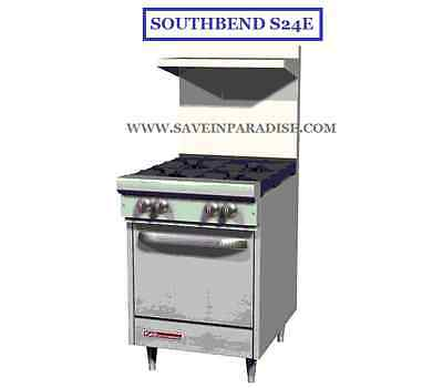 Southbend S24E Ultimate Natural Gas 4 Burner with Oven