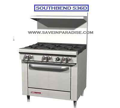 Southbend S36D Ultimate Natural Gas 6 Burner with Oven