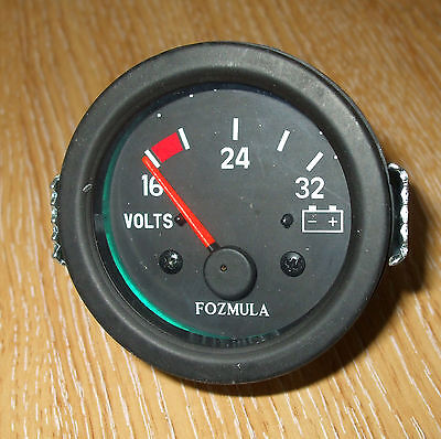 24v  VOLTMETER, vehicle, boat, etc Illuminated dial       V220937