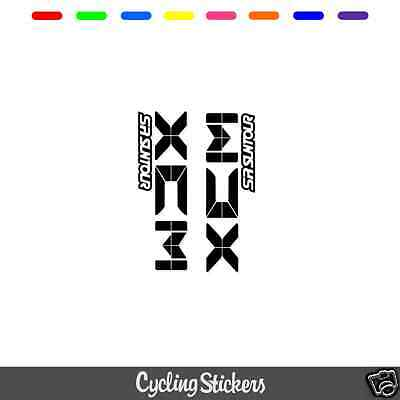 SR Suntour XCM V3 Style Suspension Fork Decal/Stickers | Replacement | Vinyl