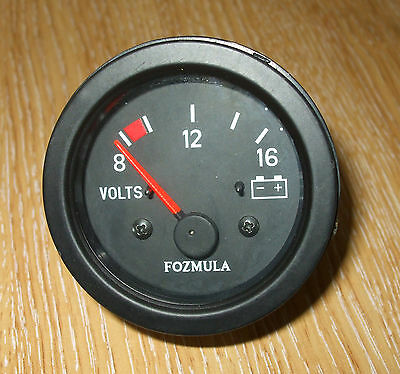 12v  VOLTMETER, vehicle, boat, etc NON Illuminated dial     V220936/01