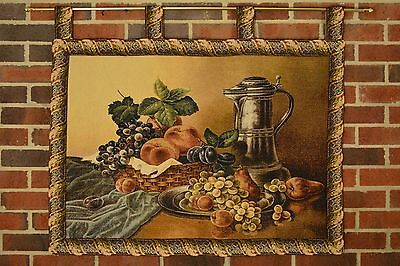 Kitchen Food Fruits Dining Room Woven Picture Tapestry Wall Hanging Art Decor