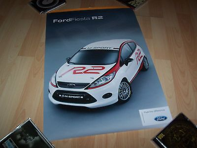 Affiche officielle / Showroom poster FORD Fiesta R2 //