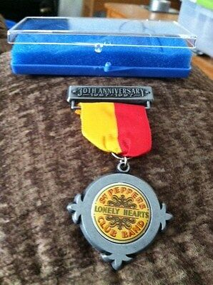 The BEATLES 30 Anniversary medal for SGT PEPPERS LONELY HEARTS CLUB BAND.  Rare