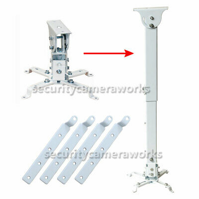 Tilt LCD DLP Projector Ceiling Mount Bracket 44lbs with 4 Extension Adapters bjv