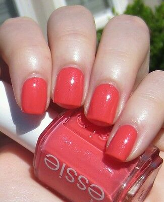 Essie Nail Polish Sunday Funday Peach Shimmer Nautical Collection Beach Time