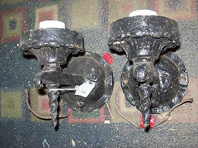 Pair Iron Sconces medieval style  (LT 162)