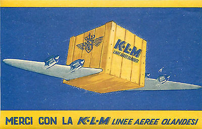 Linee Aeree Olandesi ~KLM AIRLINE~ Unique & Scarce Old Luggage Label