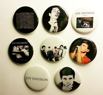 8 piece lot of Joy Division pins buttons badges
