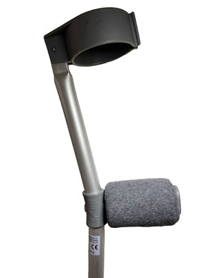 Crutch Handle Padded Covers HIGH QUALITY Cushioned Foam Pad - Grey