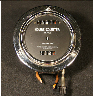 Aviation Hours Counter 15C 430/6 200-250V Smiths Industrial Instruments London