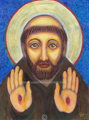 """ST. FRANCIS OF ASSISI—11x14""""—Catholic Art—Archival Print—Confirmation Gift"""