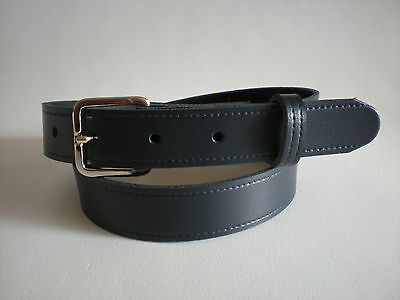Children's real leather belts in navy blue