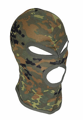 Deluxe Cotton Short Thin 3 Hole Balaclava SAS Style Ski Face Mask 5 Colours