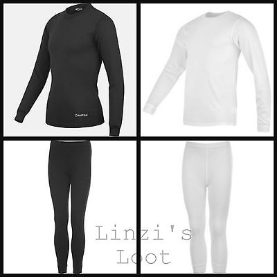 Mens Campri Thermals Skiing Base Layers ~Black / White Tops Tights S M L XL XXL