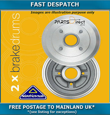 Rear Brake Drums For Renault Clio 1.1 09/1998 - 08/2010 5013